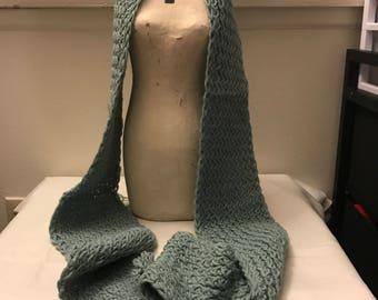 Wool Blend Knit Scarf