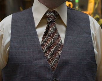Sears The Men's Store Paisley Pattern Polyester Neck Tie