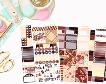 Sweater Weather Personal Kit,  planner stickers