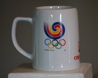 1988 Seoul  Olympic Beer Mug/ OB Beer Korea/ Oriental Brewing Company/ Olympic Collectible