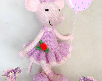 Angelina Ballerina - Mouse Ballerina - Crochet Doll - Amigurumi Doll