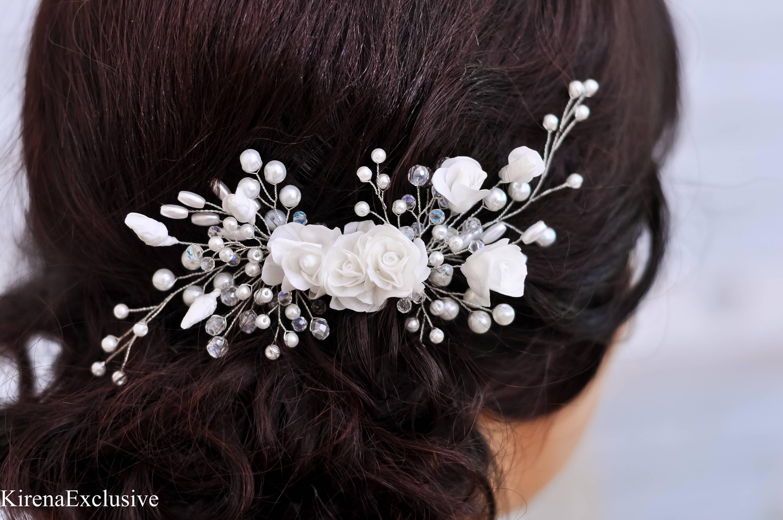 bridal hair comb wedding hairpiece wedding hair comb floral