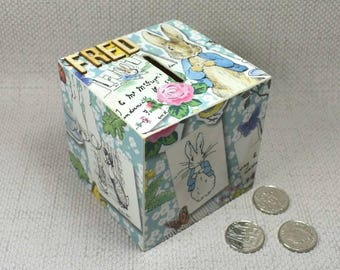 Peter Rabbit Wooden Money Box