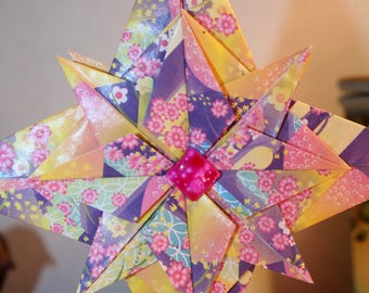 Origami Large MultiColor Double Layer Hanging Star Ornament