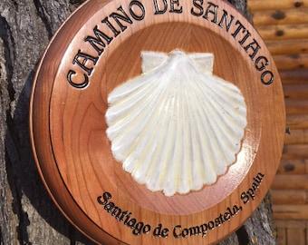 Camino de Santiago Round Plaque #202