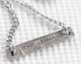 New Zealand Shilling Banner - Pendant Necklace