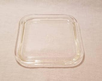 "PYREX SQUARE COVER 662 663 Lid Clear 6"" Corning Glassworks Kitchenware Replacement Vintage Retro"