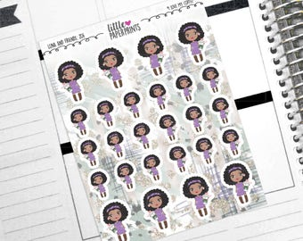"ZOE - ""I Love My Coffee!"" Decorative Planner Stickers from the Little Luna and Friends Collection Series"