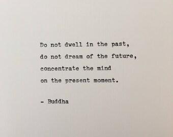 Buddha quote hand typed on antique typewriter scrapbooking