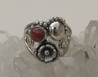 Fire Opal Ring, Size 8
