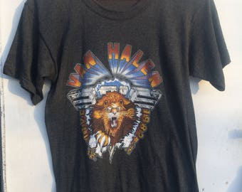 Vintage 80s Van Halen Tshirt // 1982 Diver Down Tee // Rock n Roll Concert Shirt // David Lee Roth Eddie Van Halen // Hide Your Sheep Tour