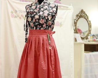 Hanbok Jeogori Sleeveless / Short Sleeve/ Long sleeve Floral / Skirt / wrap skirt