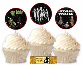 Star Wars Inspire Cupcake toppers