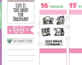 Munchkins -  Study Time! Last Minute Cramming Mode Planner Stickers (M312)