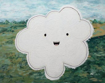 Happy Cloud - Acrylic Painting