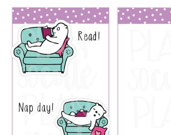 Nap Day Stickers, Read Planner Stickers -099