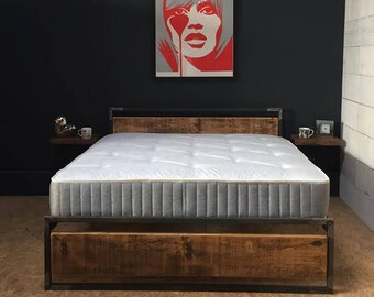 Industrial Reclaimed Rustic 'GRAVITY' Bed Frame
