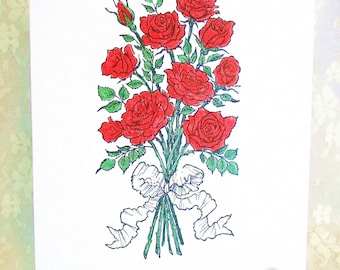 Roses Card: Add a Greeting or Leave Blank
