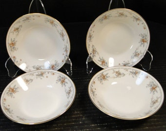 "FOUR Noritake Legendary Secret Love Berry Bowls 3481 5 1/2"" Set of 4 EXCELLENT!"