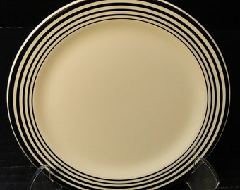 Taylor Smith Taylor Platinum Bands Rings Bread Plate 6 1/4 601 EXCELLENT!