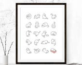 Cats Print, Cute Cat Print, Funny Cat Print, Cat Printable, Cat Quote Print, Cat Quote Printable, Cat Printable Art, Cat Lover Gift