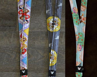 Princesses, Evil Queen, and Snow White's Dwarfs Disney Lanyards