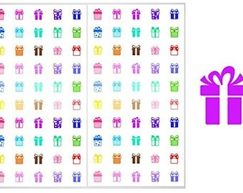 FREE SHIPPING**2 Sheets of Present Stickers for Planners, Notebooks and Journals, ST101