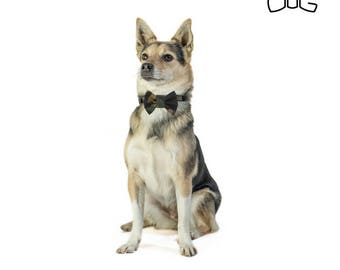 """Army dog bow tie - 30% of sales donated to dog shelters """"dog bow tie"""" symbol for animal support"""