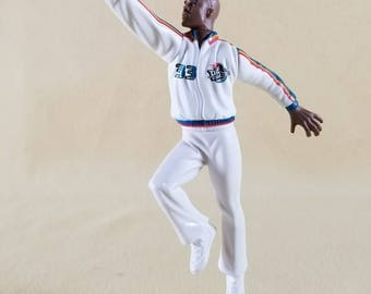 Starting Line Up ~ Detroit Pistons Basketball ~ #33 Grant Hill ~ Figure with Basketball ~ Stand ~ Hasbro ~ Kenner ~ Seths Vintage Emporium