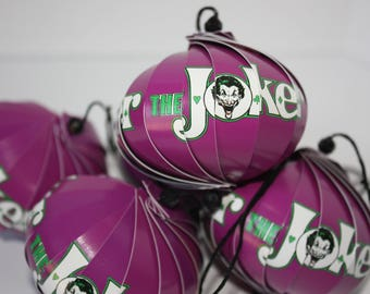 The Joker Ornaments : Single or Set of 5