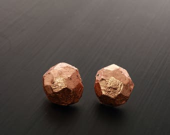 small round earrings | copper | HeavyMetals Collection