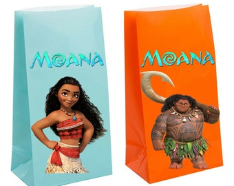 Moana Party Favor Bag Birthday Party Inspired Decorations & Decor