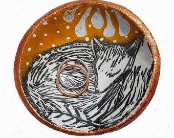 fox ring dish/ trinket bowl