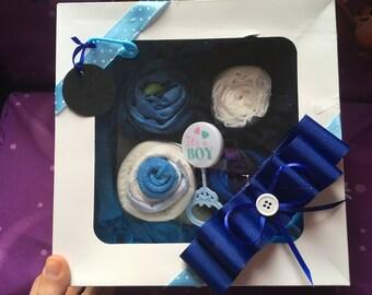 Blue Diaper Cupcakes