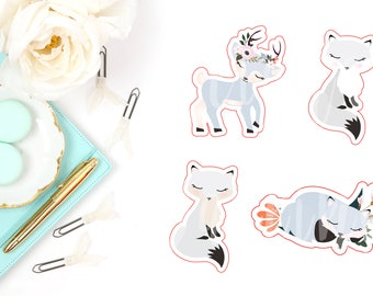 Snow Fox Die Cut Characters