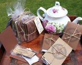 12 Single Serving Tea - Tea Packets - Custom Tea Favors - Tea Party Ideas - Tea Party Favor - Loose Tea Sampler - Tea Cup Party Favors
