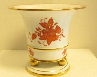 Vintage HEREND Hand Painted, Gilded, Signed & Numbered Porcelain Urn / Vase.