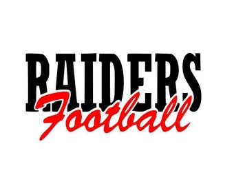 Raiders  High School College Football SVG File Cutting, DXF, EPS design, cutting files for Silhouette Studio and Cricut Design space Cut