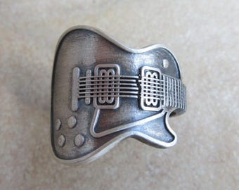 Ring Gibson Guitar .925 Sterling Silver by Amires Saint