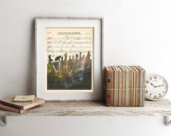 The Lord of the Rings Sheet Music Art Print