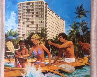 Original Outrigger Hotel Waikiki Poster