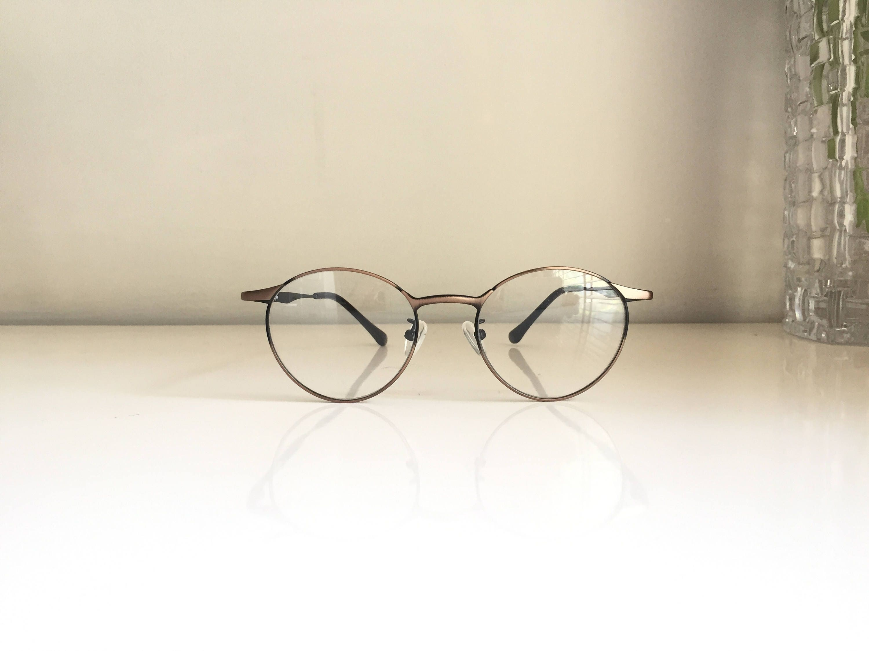 Black Glasses Oval eyeglasses small vintage round eyeglasses Retro ...