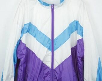 Vintage jacket, 90s vintage windbreaker, vintage clothing, track jacket, 90s sportswear