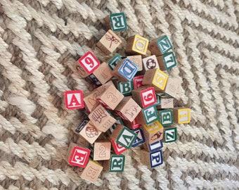 Mini Alphabet Wooden Blocks-44 pieces
