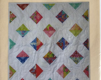 Block 13 - Press & Stitch Building Blocks - Easy quilt uses charm packs or layer cakes - multiple sizes