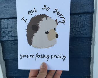 Hedgehog Get Well Soon Card