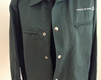 Vintage French Military Jacket - Mayor Paris / Work Jacket (L)