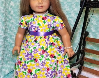 Ladybug Summer Dress Outfit with Jewelry - American Girl & Friends