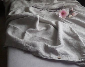 Linen Bedding Set Oatmeal-grey(Natural) 5 pcs:1 duvet cover+2 pillowcases+1 fitted sheet+1 flat sheet.Super soft bedding King duvet cover