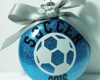 Christmas Ornament - Soccer Christmas Ornament - Personalized Soccer Ornament - Soccer Coach Gift - Soccer Player Gift - Teen Gift
